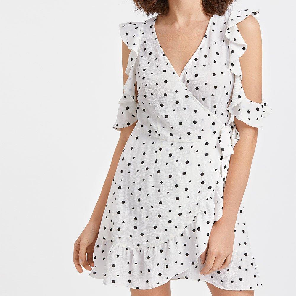 f778185872a Amazon.com : Women's Dress, BOLUBILUY Back Bow Dot Printing ...