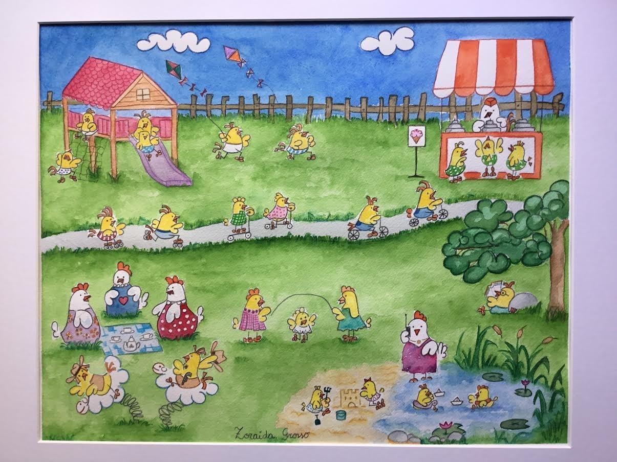 cuadro para niño bebe, acuarela para dormitorio infantil, decoración dormitorio niño bebe infantil, cuadro pintado a mano original.