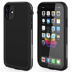 LOVE BEIDI iPhone 11 Waterproof Case 6.1 Screen Protector Underwater Shockproof Full-Body Dustproof Rugged Case for Aplle iPhone 11 (Black & Gray)