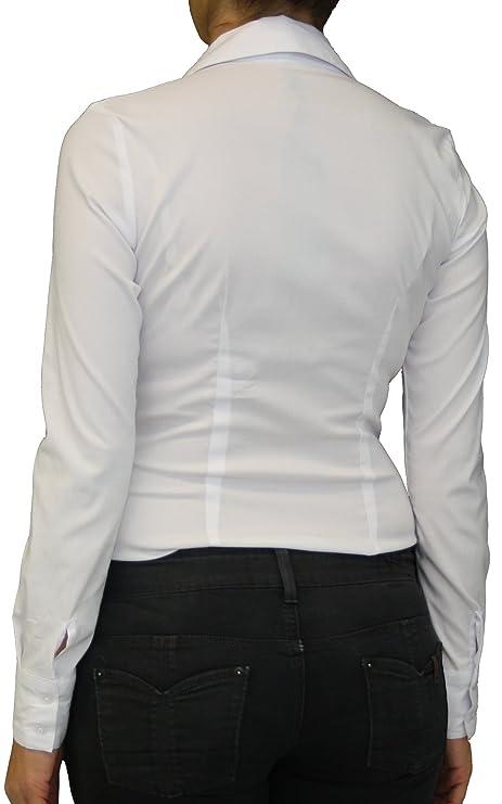 b232c30cc1 Extra Me 7007 Damen Stretch Bodys Blusen Bodybluse Blusenbody Farbe Weiß  Konfektionsgröße 40 Internationale Größe L weiß L/40: Amazon.de: Bekleidung