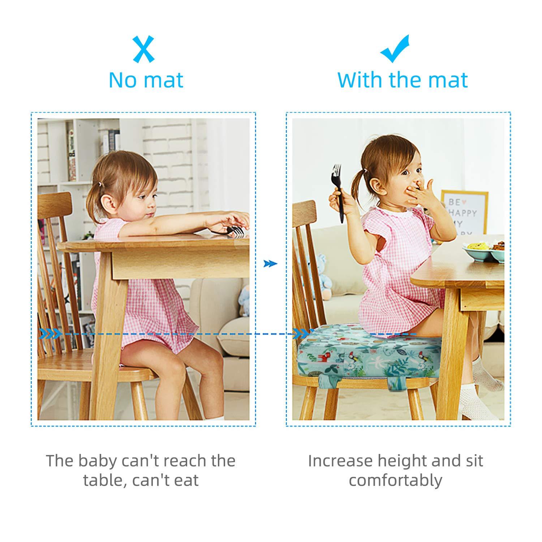 Dunkelblau Zicac Sitzerh/öhung Baby Tragbar Sitzkissen Cartoon Design f/ür Kinder