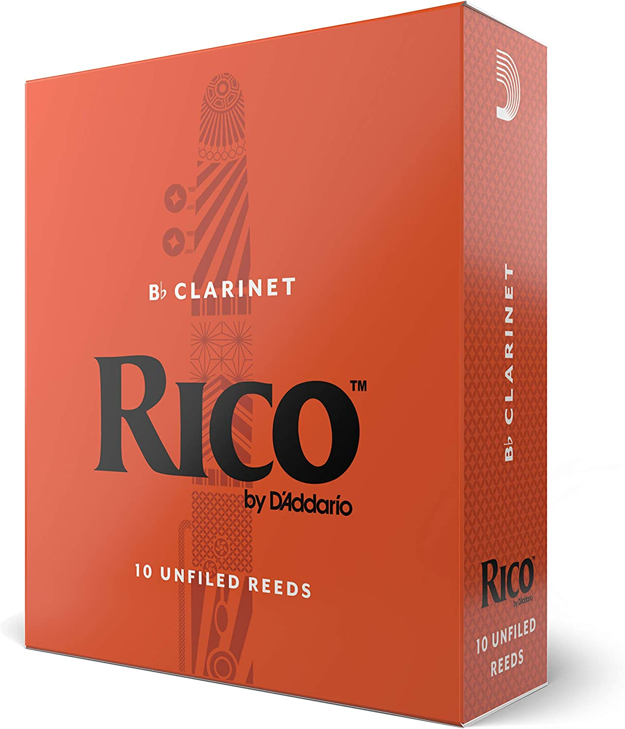 Rico Bb Clarinet Reeds, Strength 2.5, 10-pack