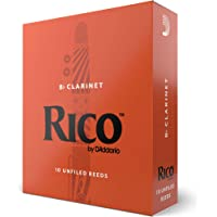 Rico by D'Addario Bb Clarinet Reeds, Strength 2.0, 10-pack