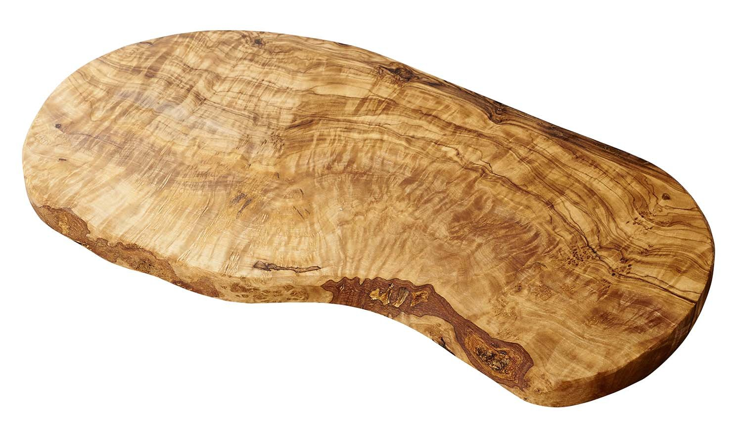 Naturally Med Olive Wood Cutting Board/Cheese Board, 14'' L