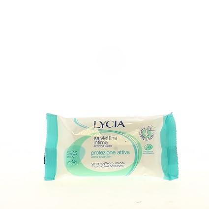Lycia - Toallitas húmedas intimas - Protección activa - 12 toallitas - [pack de 4