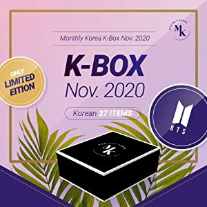 [Monthly Korea] Korea Subscription Box : November 2020 BTS ver. (K-Pop, K-Beauty, K-Caracter, K-Trip, and K-Food. A total of 5 items and 27 products)