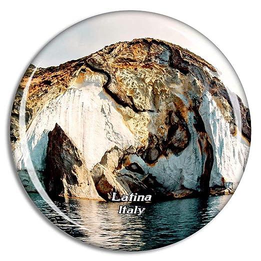 Weekino Italia Latina Ponza Island Acantilado Imán de Nevera 3D de ...