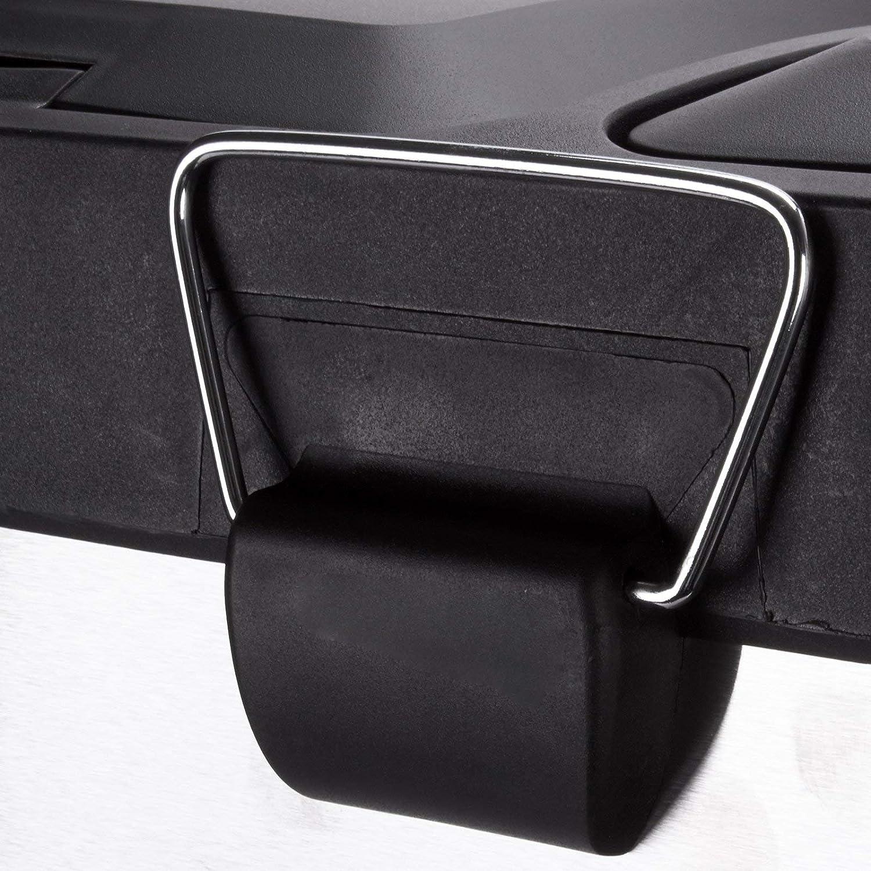MSV 100353, Papelera de Inox con 3 Compartimientos, Cromado, 46 x 26,5 x 39,5 cm