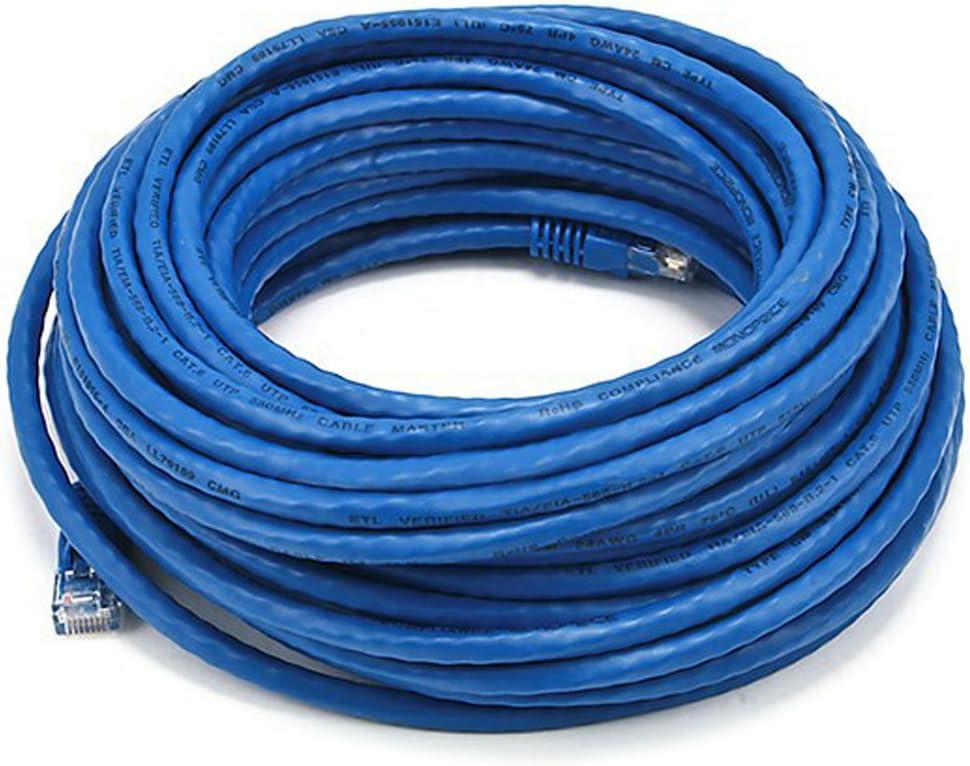 Blue Monoprice 50FT Cat5e 350MHz UTP Ethernet Network Cable