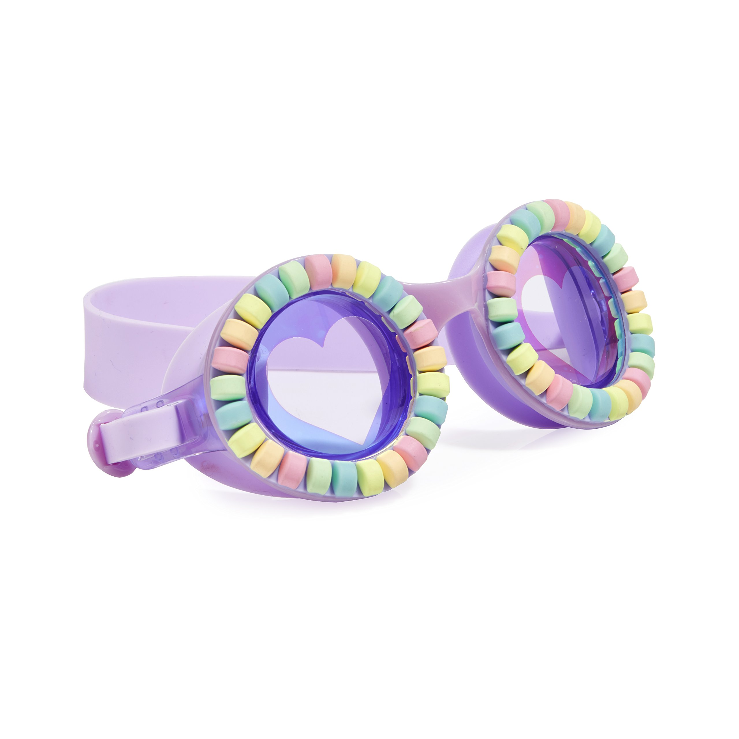 Swimming Goggles For Kids by Bling2O - Anti Fog, No Leak, Non Slip and UV Protection - Lovely Lilac Colored Fun Water Accessory Includes Hard Case