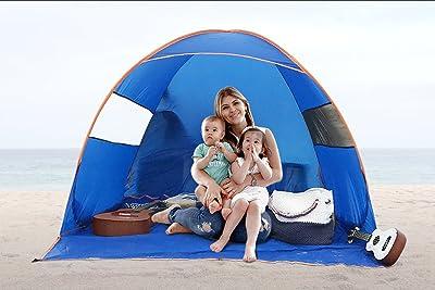 FiveJoy Instant Pop-Up Cabana Beach Tent