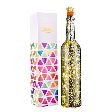 HUAFA luz de botella, (Botella de plata) Desarrollado por 3 piezas de batería