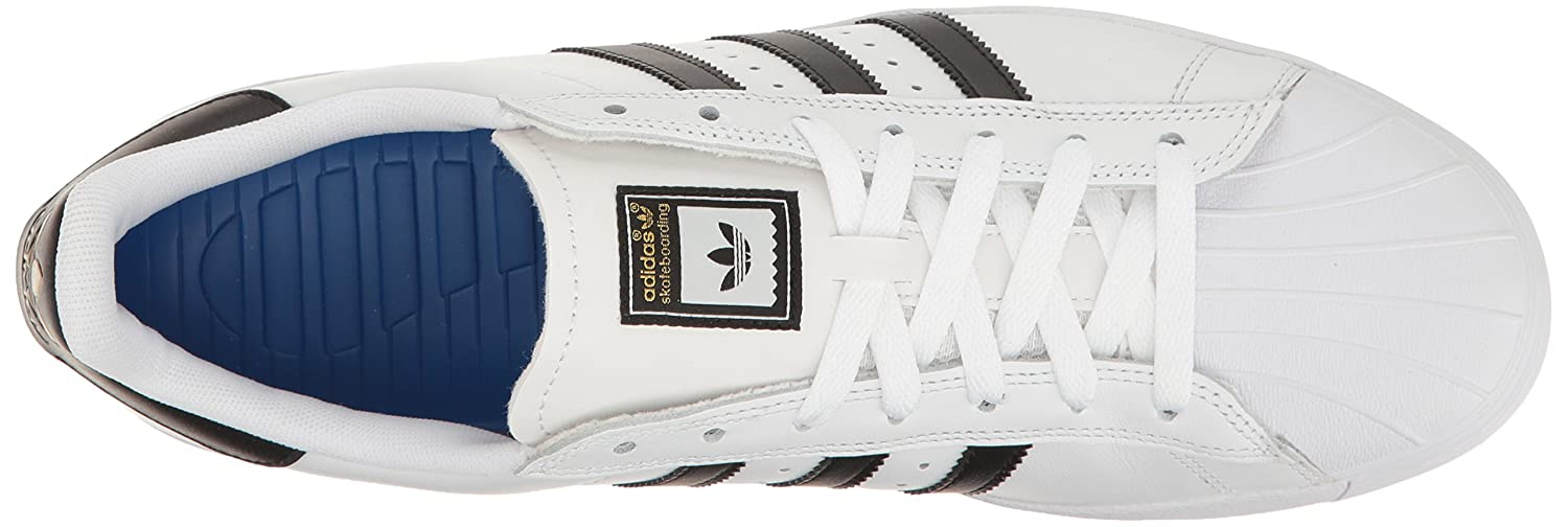 adidas Originals Men's Superstar Vulc Adv Shoes B01F5GRR8Q 6 M US|White/Core Black/White