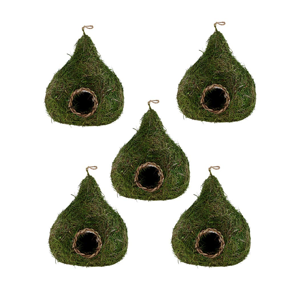 Fityle 5Pcs Hanging Bird Nesting Box Green House Gourd