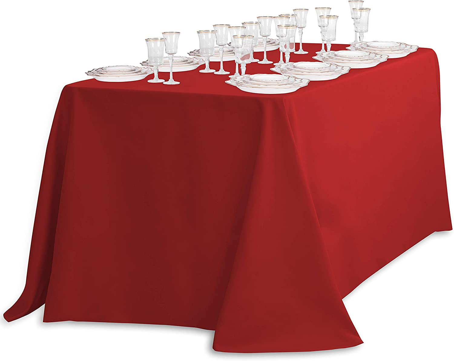 """8 packs Rectangle 90/""""x156/"""" inch Polyester Tablecloth 6ft Banquet Cover 18 Color"""