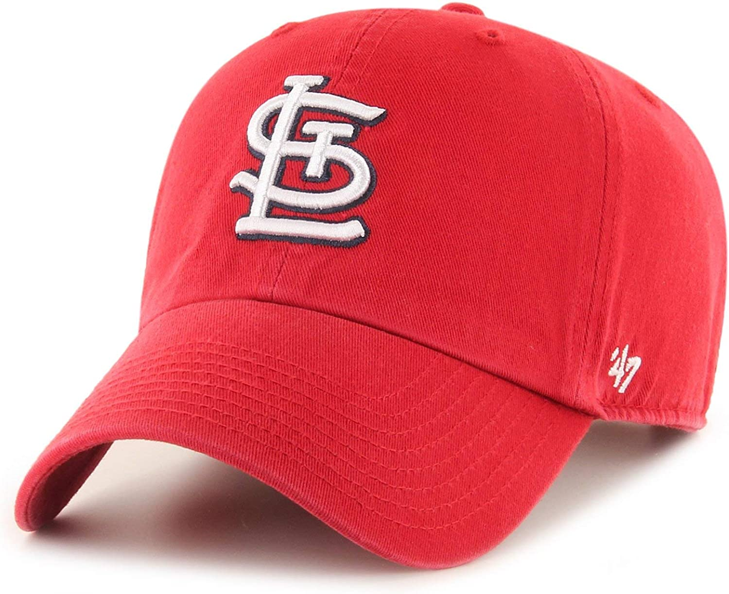 Louis Cardinals Clean Up Hat Cap Red//White 47 Brand St