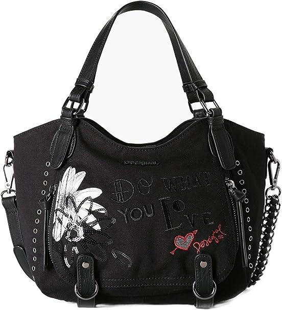 sac desigual rotterdam mini black daisy