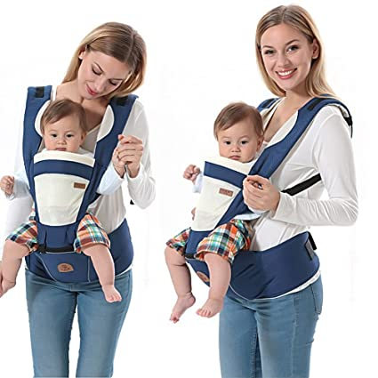 Weksi® Portabebés recién nacido mochila azul: Amazon.es: Bebé