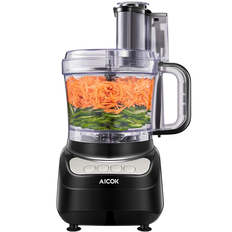 Tritatutto da Cucina, Aicok Frullatore Tritatutto Multifunzione, 1.8 Litri Robot da Cucina, 3 Velocità Regolabili Tritatutto per Verdura, Adatto per Carne, Spezie, Frutta, Verdura, 500W