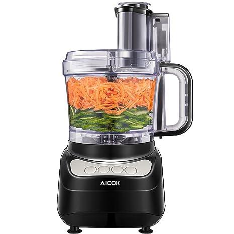 Robot Da Cucina Aicok 1 8 Litri Robot Da Cucina Multifunzione 3 Velocita Regolabili Tritatutto Da Cucina Elettrico Food Processor Adatto Per