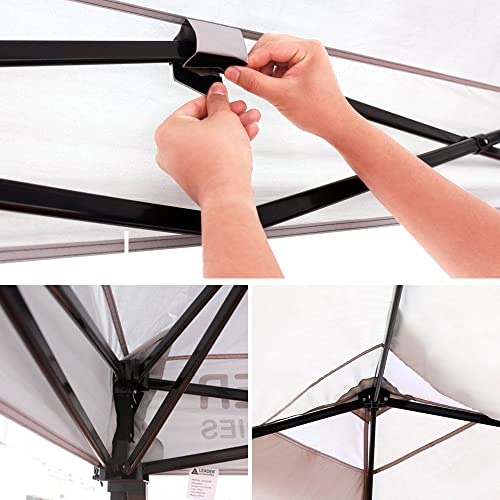 Leader Accessories Pop Up Canopy Tent 10 x10 Canopy Instant Canopy Shelter Straight Leg Including Wheeled Carry Bag
