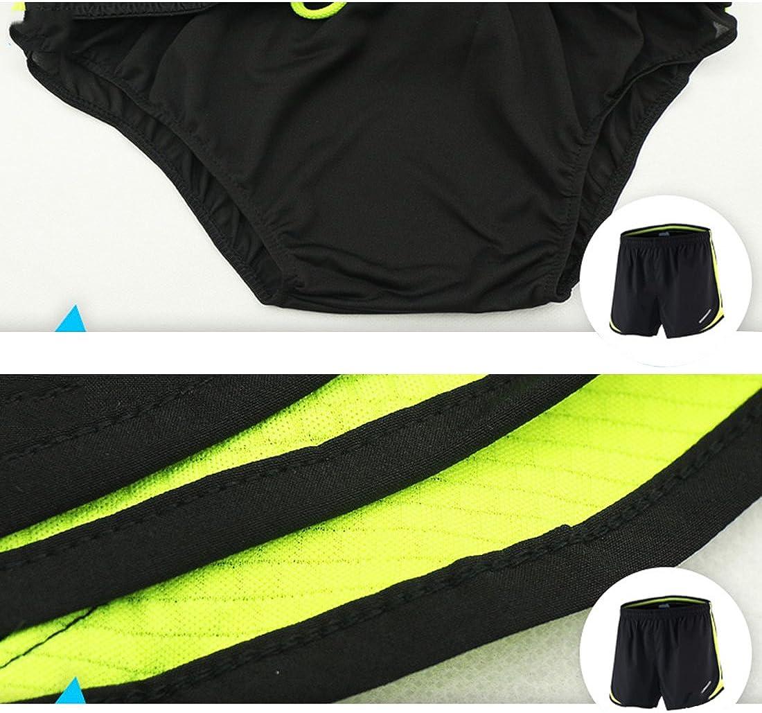 Short court de sport//marathon avec slip int/égr/é pour hommes Gwell