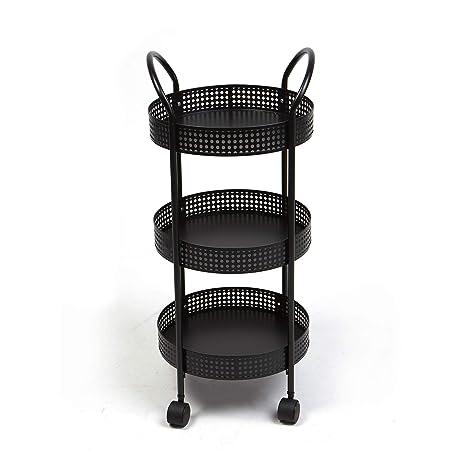 Mind lector 3 niveles para especias/carrito de cocina, negro