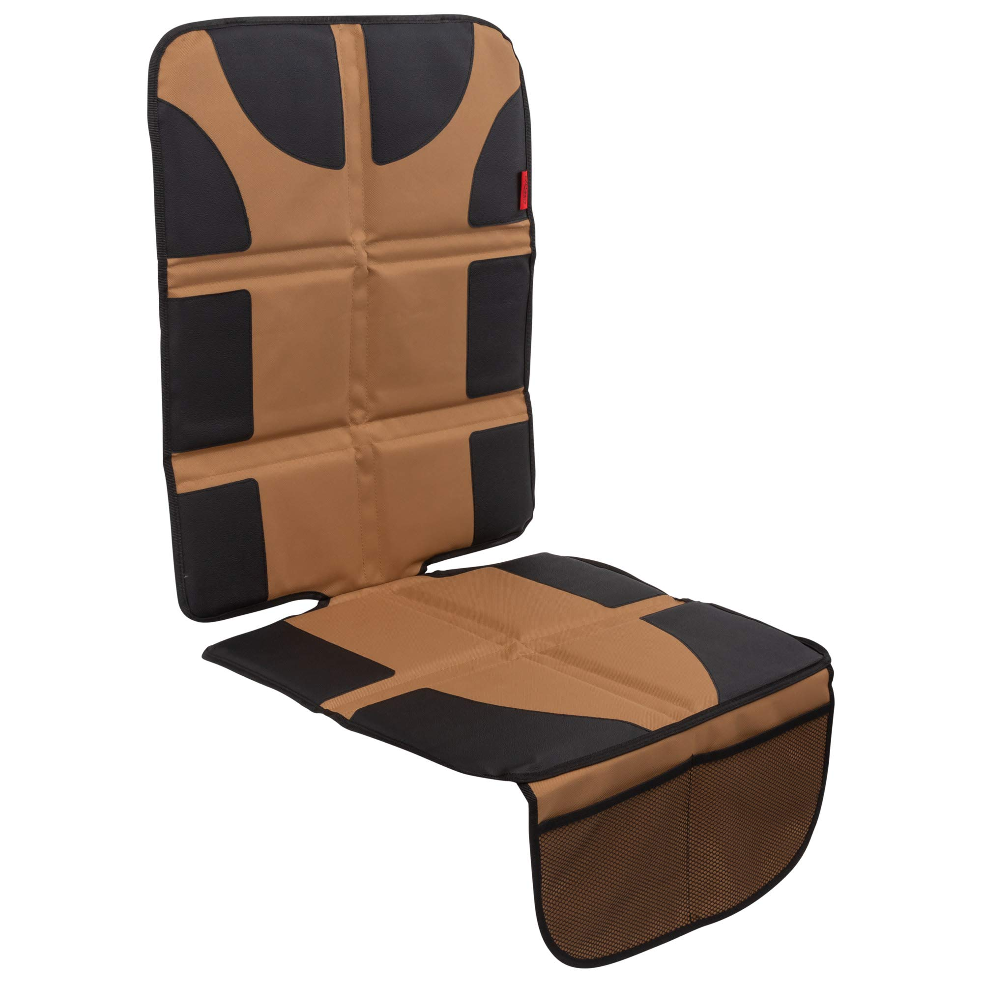 Lusso Gear Car Seat Protector with Thickest Padding - Featuring XL Size (Best Coverage Available), Durable, Waterproof 600D Fabric, PVC Leather Reinforced Corners & 2 Large Pockets for Handy Storage by Lusso Gear