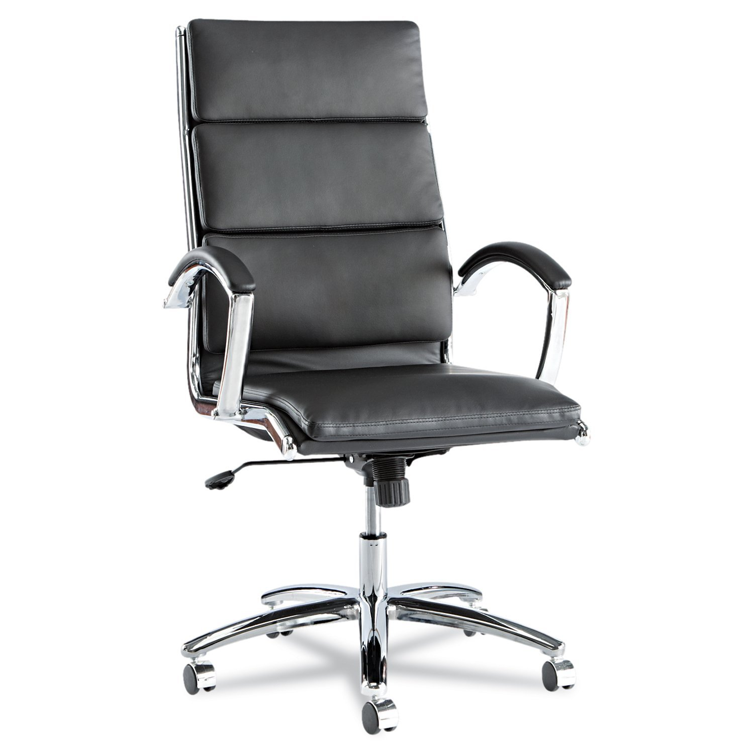 Alera Neratoli High-Back Swivel-Tilt Chair - Black Soft-Touch Leather