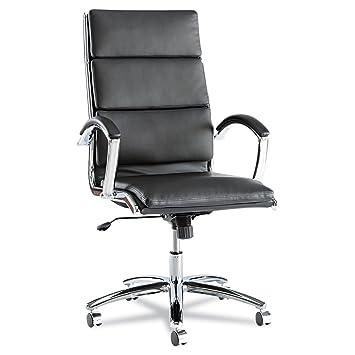 Alera NR4119 Alera Neratoli Series High Back Swivel/Tilt Chair, Black  Leather,