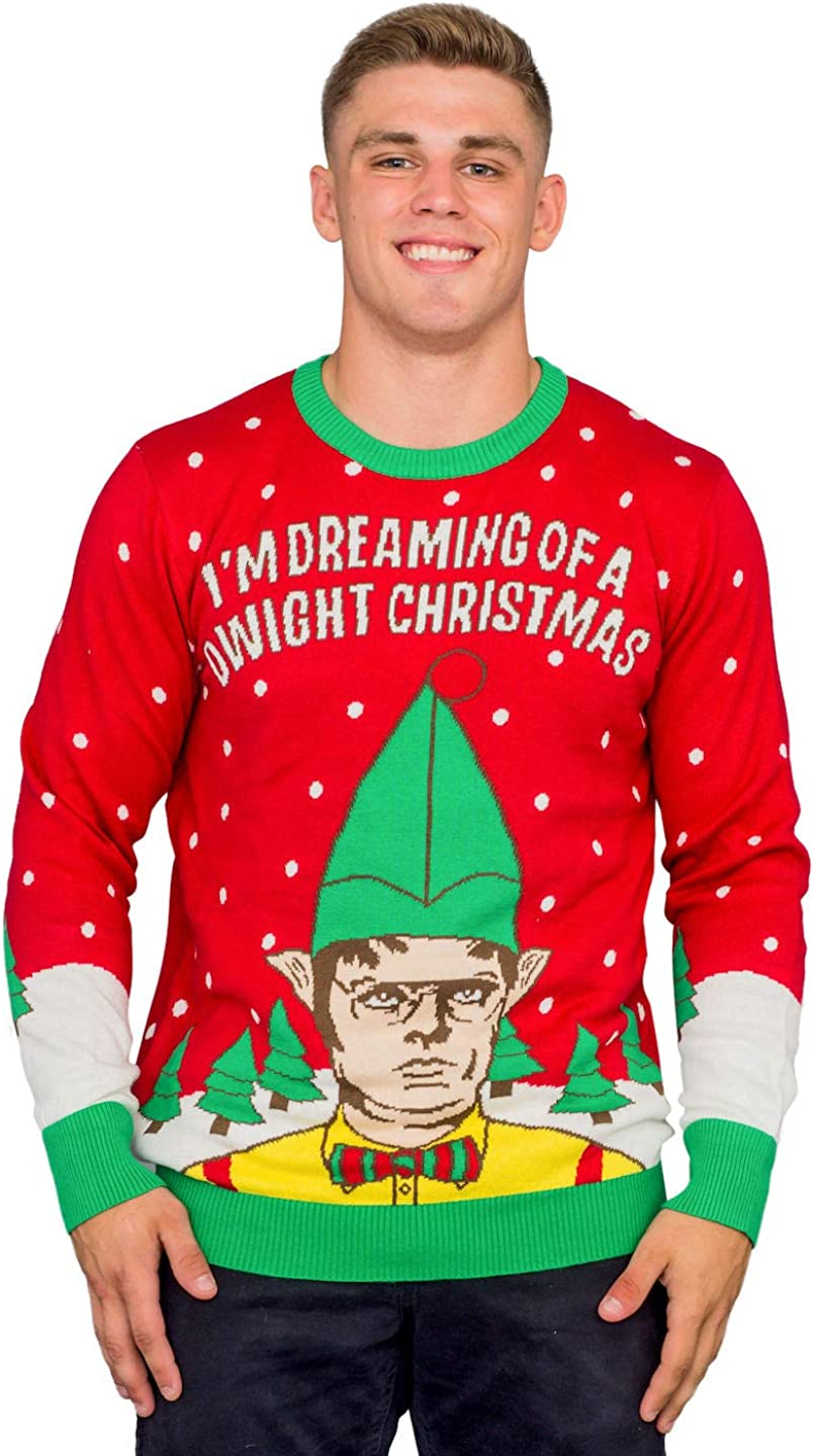 Amazon.com: T-Line I'm Dreaming of a Dwight Christmas Adult Ugly Sweater:  Clothing