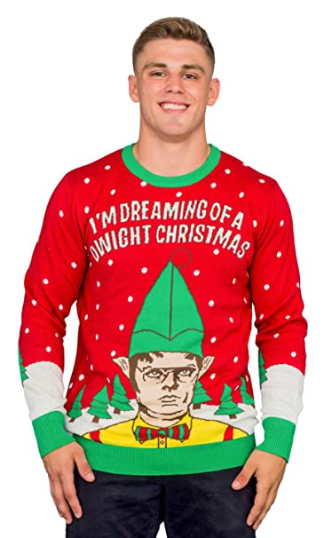 Dwight Christmas.T Line I M Dreaming Of A Dwight Christmas Adult Ugly Sweater