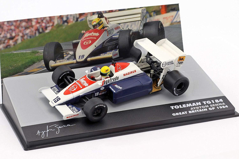 Ayrton Senna Toleman TG184#19 3rd UK GP Formule 1 1984 1:43