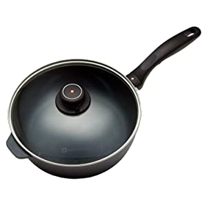 "Swiss Diamond Nonstick Saute Pan with Lid - 3.2 qt (9.5"")"