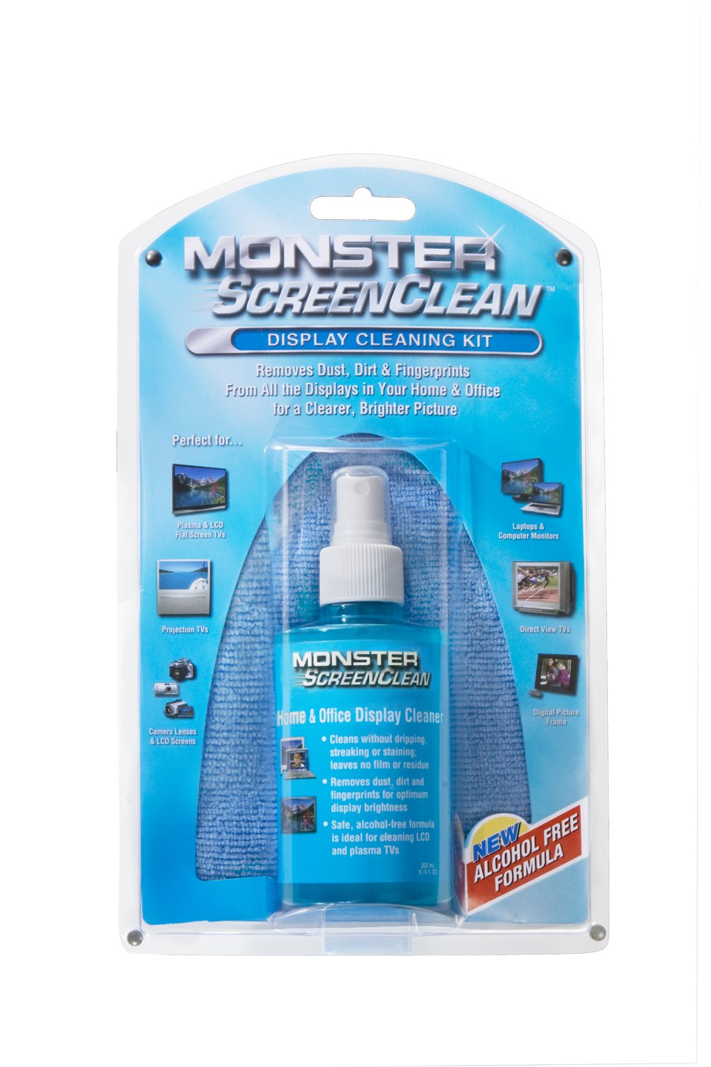 Monster TV CLNKIT Alcohol-Free ScreenClean Kit - Traditional Packaging by Monster (Image #2)