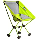 Terralite Portable Camp / Beach Chair Perfect For Beach, Camping, Backpacking, & Outdoor Festivals. Compact & Heavy Duty (Supports 350 lbs). Includes TerraGrip Feet- Won't Sink In the Sand or Mud.