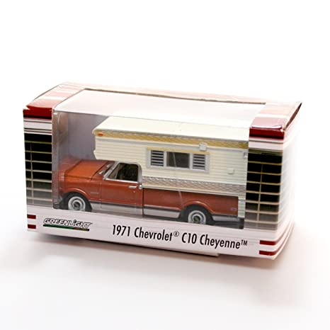 1971 Chevrolet C10 Cheyenne With Large Camper Brown White Hobby Exclusive