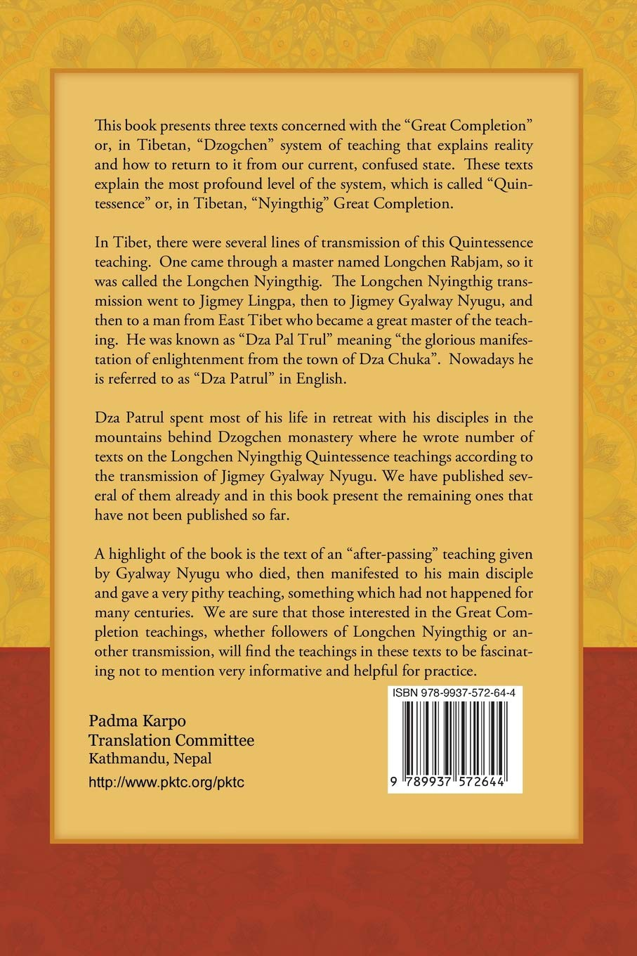 Amazon com: The View and Practice of Quintessence Dzogchen: Three