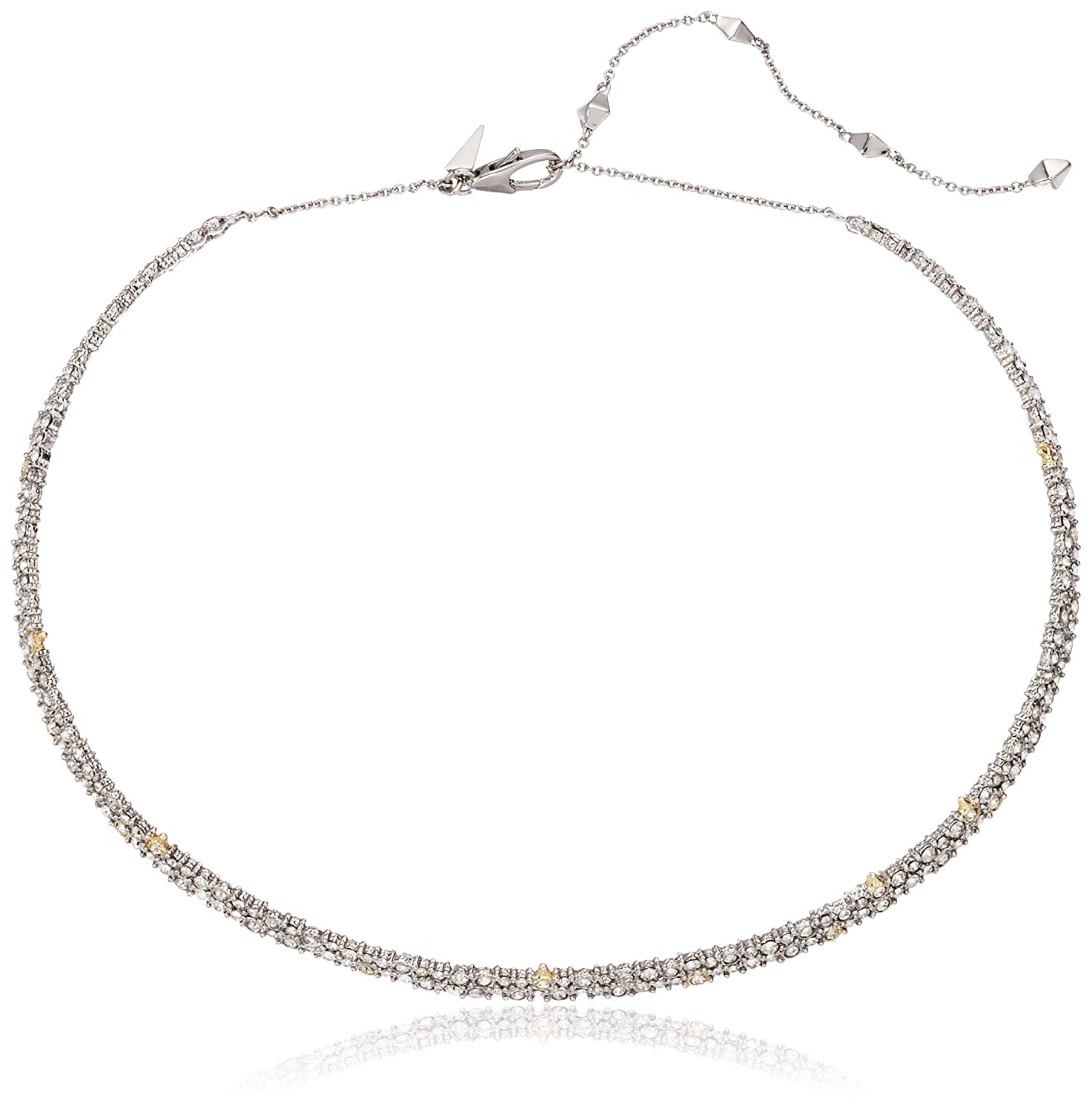 Alexis Bittar Crystal Encrusted Spike Accented Choker Necklace cAW5etae
