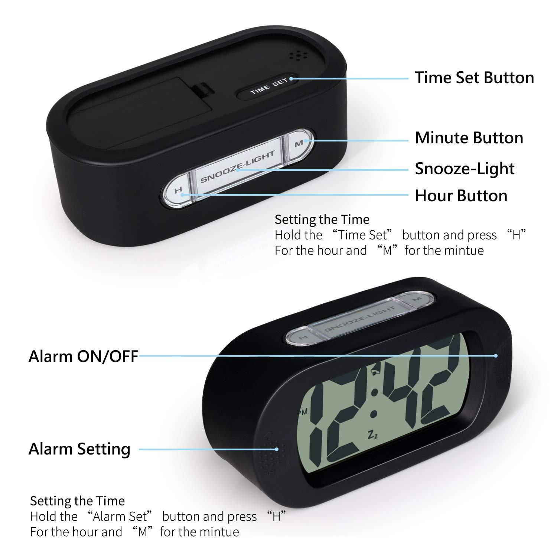 Amazon.com: Betus - Reloj despertador digital LCD con ...