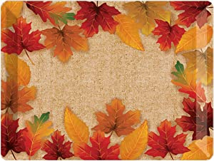 Creative Converting Fall Leaves Plastic Tray, 10