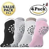 DubeeBaby Yoga Socks, Women's Non Slip Anti-Skid Pilate Grip Socks(SUN SERIES)