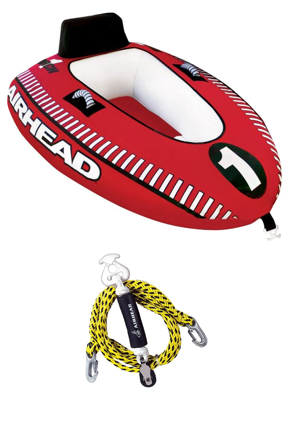 Amazon.com: Airhead Mach 1 Single Rider Inflatable Boat Towable Tube + Tow  Harness | AHM1-1: Cell Phones & Accessories