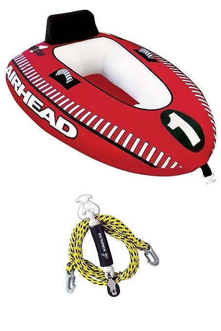amazon com airhead mach 1 single rider inflatable boat towable rh amazon com