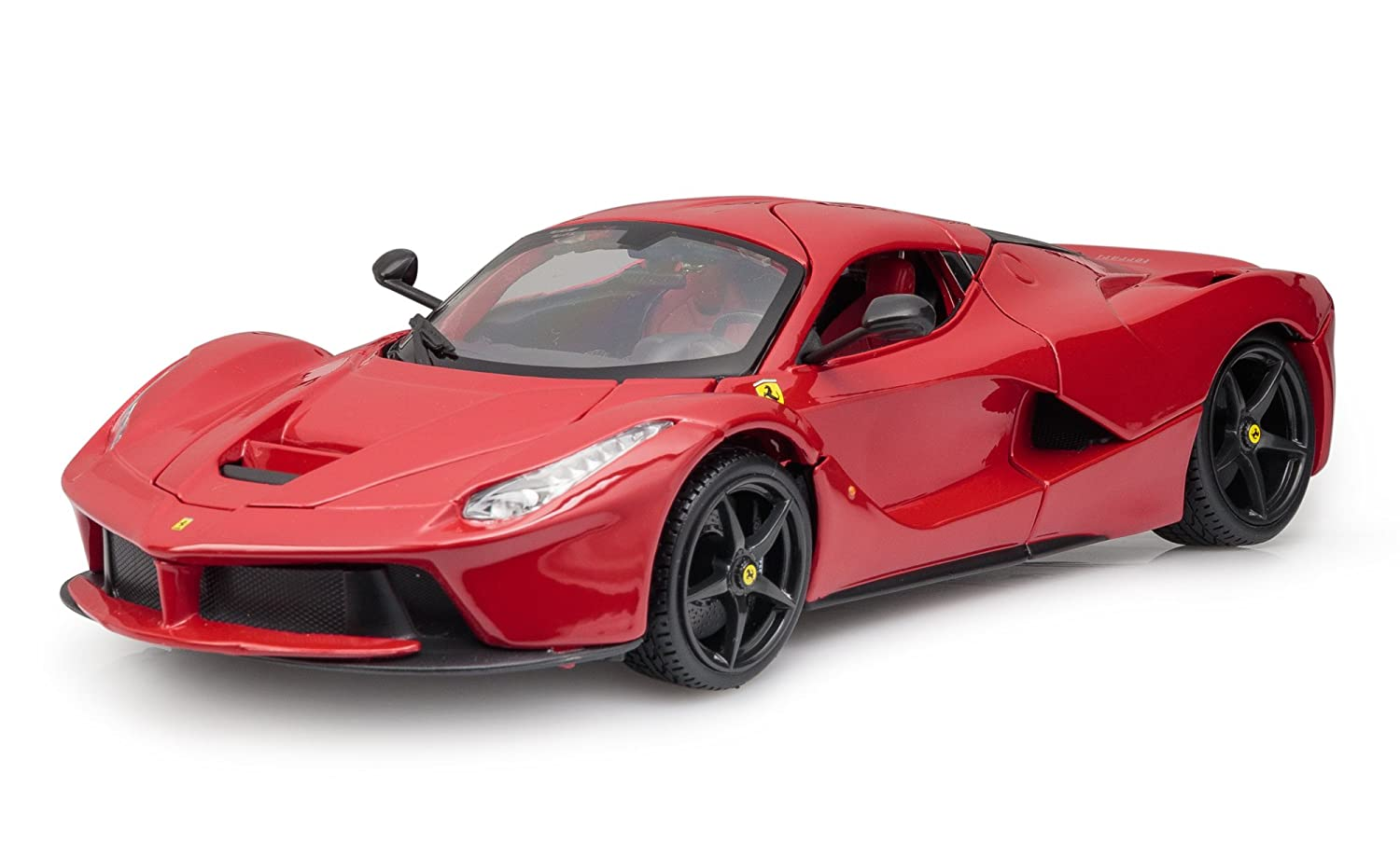 Burago 1/18 Scale Diecast 18-16001R Ferrari LaFerrari Supercar Red Black Wheels B01N1S8K2L