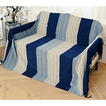 Doble cara uso tela de chenilla manta para cama sillón lo ...