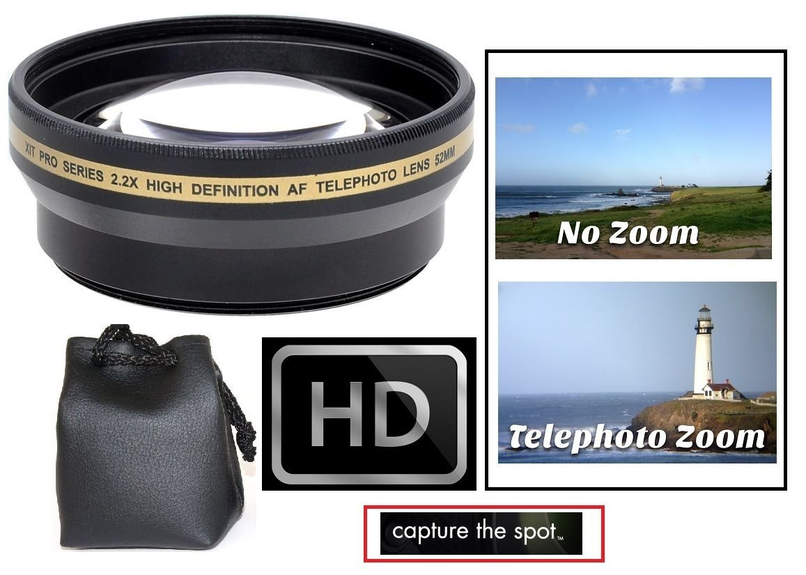 2.2x Hi-Def Telephoto Lens for Sony Alpha A5000 A5100 ILCE-5000 ILCE-5100 (40.5mm Compatible) by pro series