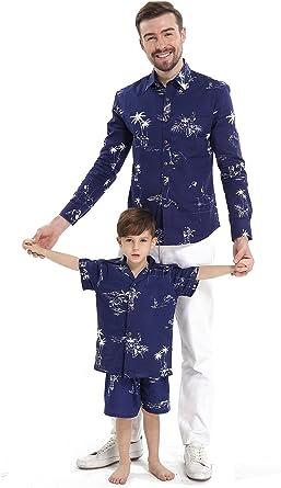 Camisa a Juego con Camisa de Manga Corta Chico Hijo Hawaiian ...