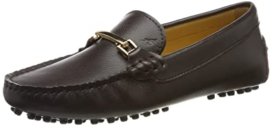 34c24d89ec ShenDuo Damen Driving Mokassin Leder Schuhe Casual Slipper Freizeit Sommer  Schuhe D7067 Kaffee 36