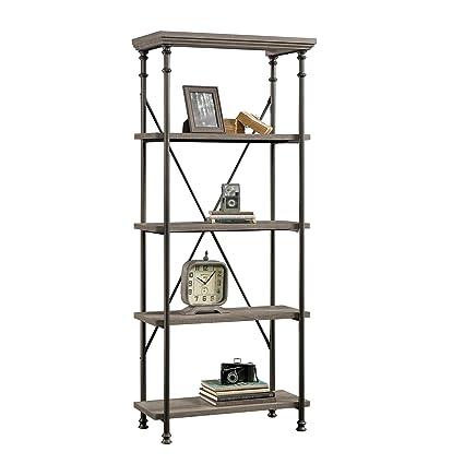 sauder 419228 bookcases furniture 5 shelf northern oak - Sauder Bookshelves